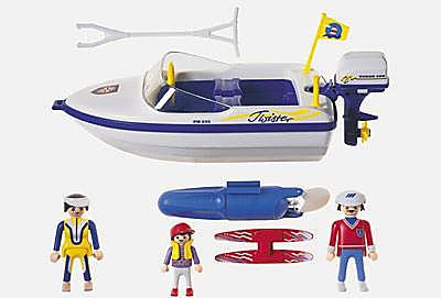 3009-A Motorboot mit Wasserski detail image 2