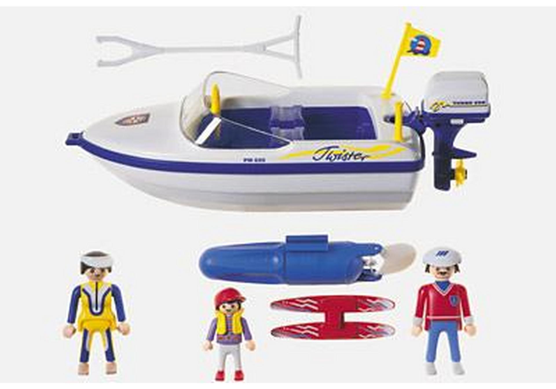Motorboot Mit Wasserski 3009 A Playmobil Deutschland