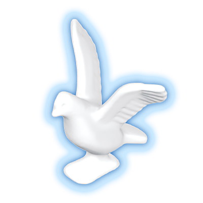 30096260_sparepart/PIGEON: FLYING  WHITE.
