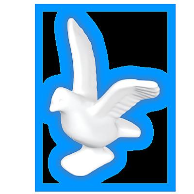 30096260_sparepart/PIGEON: FLYING, WHITE.