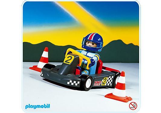 3012-A Pilote/kart noir detail image 1