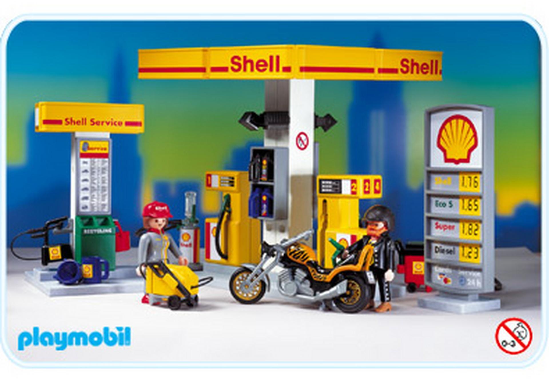 station service shell 3014 a playmobil france. Black Bedroom Furniture Sets. Home Design Ideas