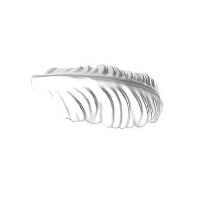 30205140_sparepart/FEATHER: 3 POINTED, WHT.