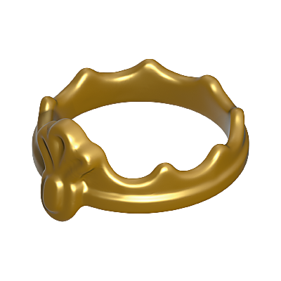 30209400_sparepart/CROWN: PRINCESS, GOLD.