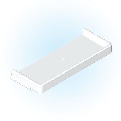 30213083_sparepart/SHELF  SMALL WITH EDGES WHITE