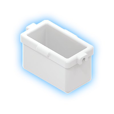 30216130_sparepart/SQUARE BUCKET II WHITE