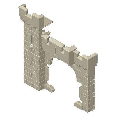 30217043_sparepart/CASTLE WALLS WITH DOOR OPENING AND TOWER