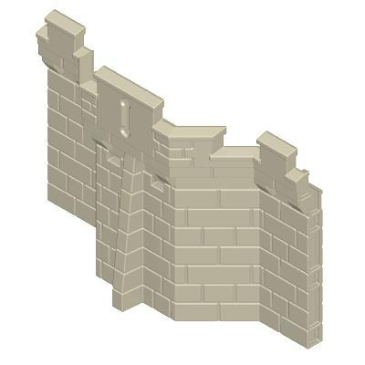 30217133_sparepart/CASTLE WALL  SINGLE HEIGHT  TRAPEZIODAL