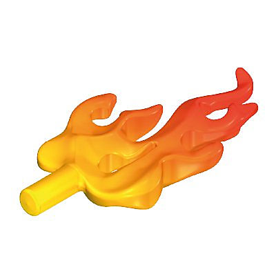 30225912_sparepart/FLAME  PEG ON BACK ORANGE/YELLOW