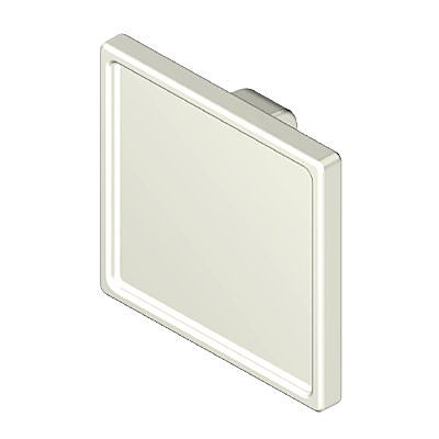 30230663_sparepart/SIGN, SQUARE WITH CLIPS OVER BAR WHITE