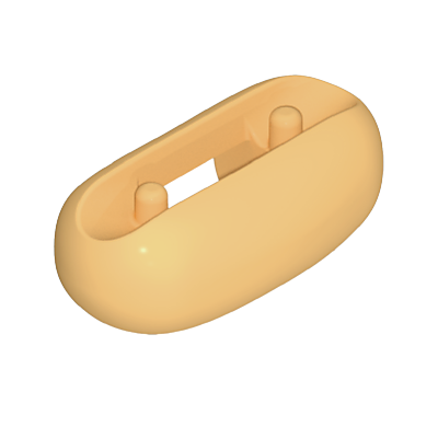 30238993_sparepart/ROLL  OVAL LIGHT BROWN