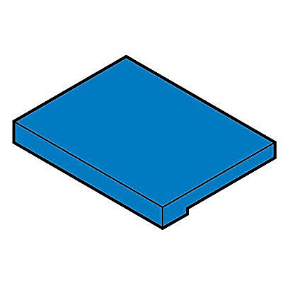 30242392_sparepart/Pièce rectangulaire bleue