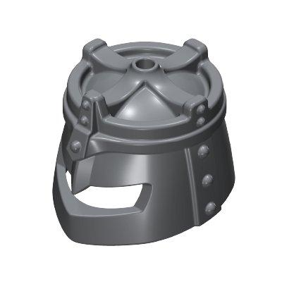 30243332_sparepart/HELMET  CROWN SHAPE ON TOP GREY
