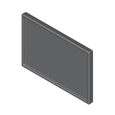 30244820_sparepart/Plateforme rectangulaire noire