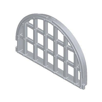 30247870_sparepart/WINDOW  ARCHED TOP  BARRED LIGHT GREY