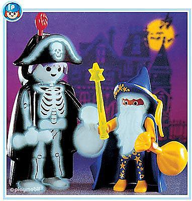 3025-A Magicien et squelette d'Halloween detail image 1