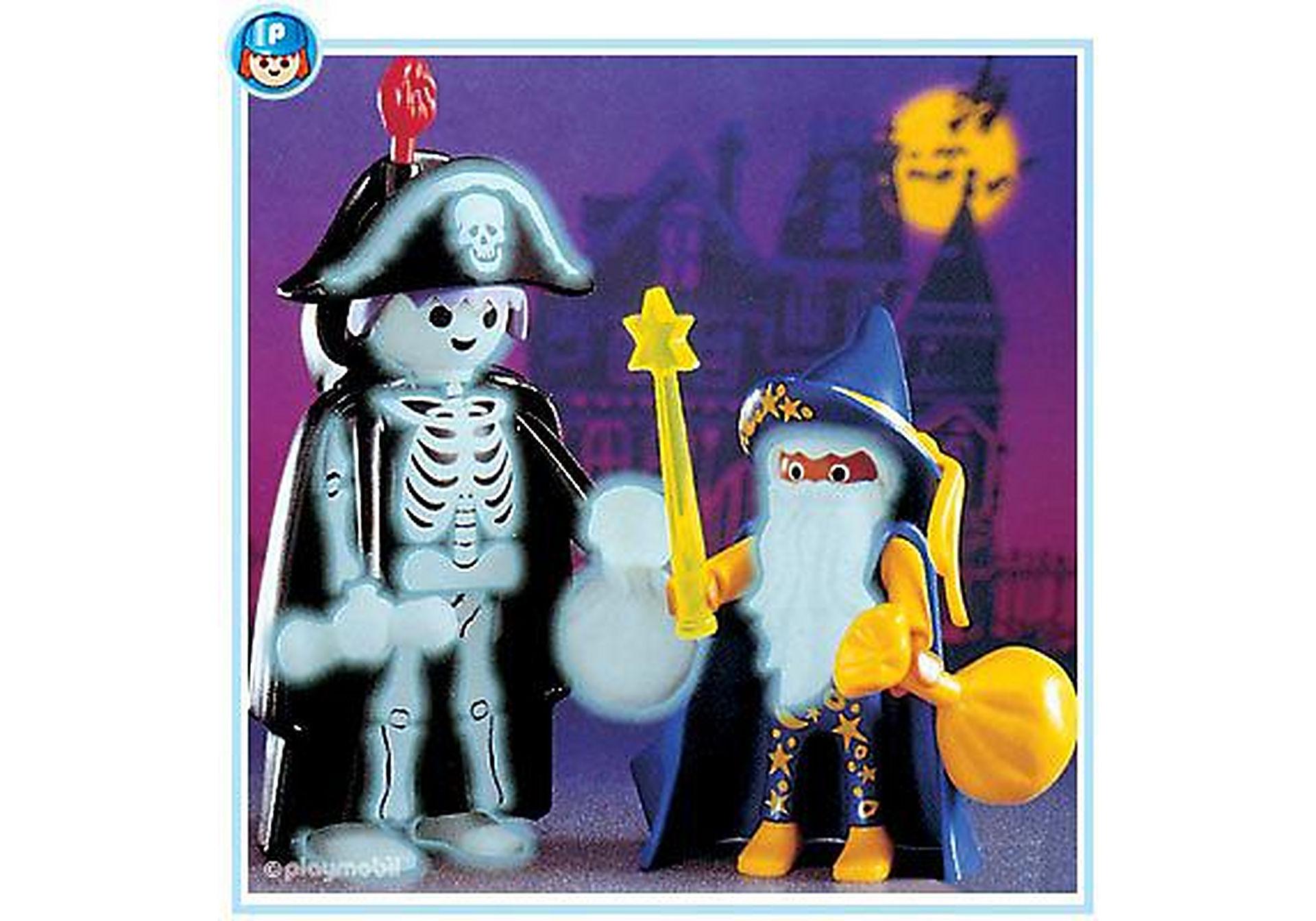 3025-A Magicien et squelette d'Halloween zoom image1