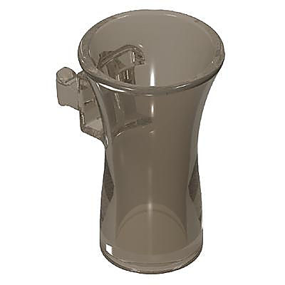 30252840_sparepart/VASE WITH  CLIPS CLEAR GREY
