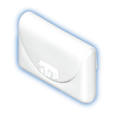 30253783_sparepart/WALLET  CURVED FLAP WHITE