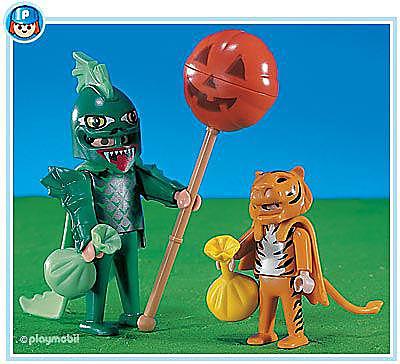 3026-A Chauve souris et tigre d'Halloween detail image 1