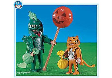 3026-A Chauve souris et tigre d'Halloween