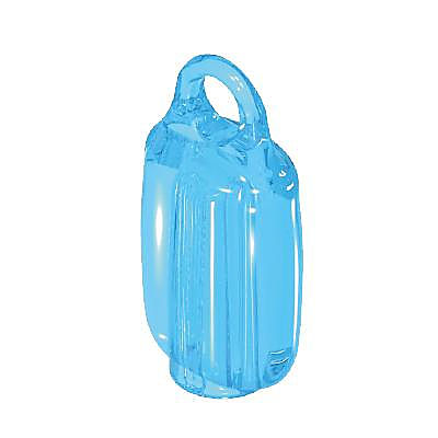 30263940_sparepart/BOTTLE FOR I.V., LOOP ON TOP CLEAR BLUE