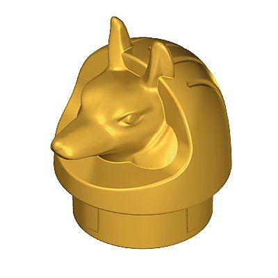 30292420_sparepart/CANOPIC JAR TOP PART DOG,GOLD