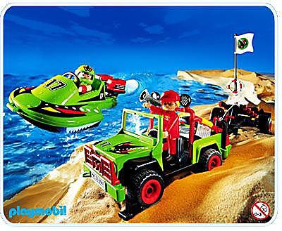 3041-A Speedboot mit Offroader detail image 1