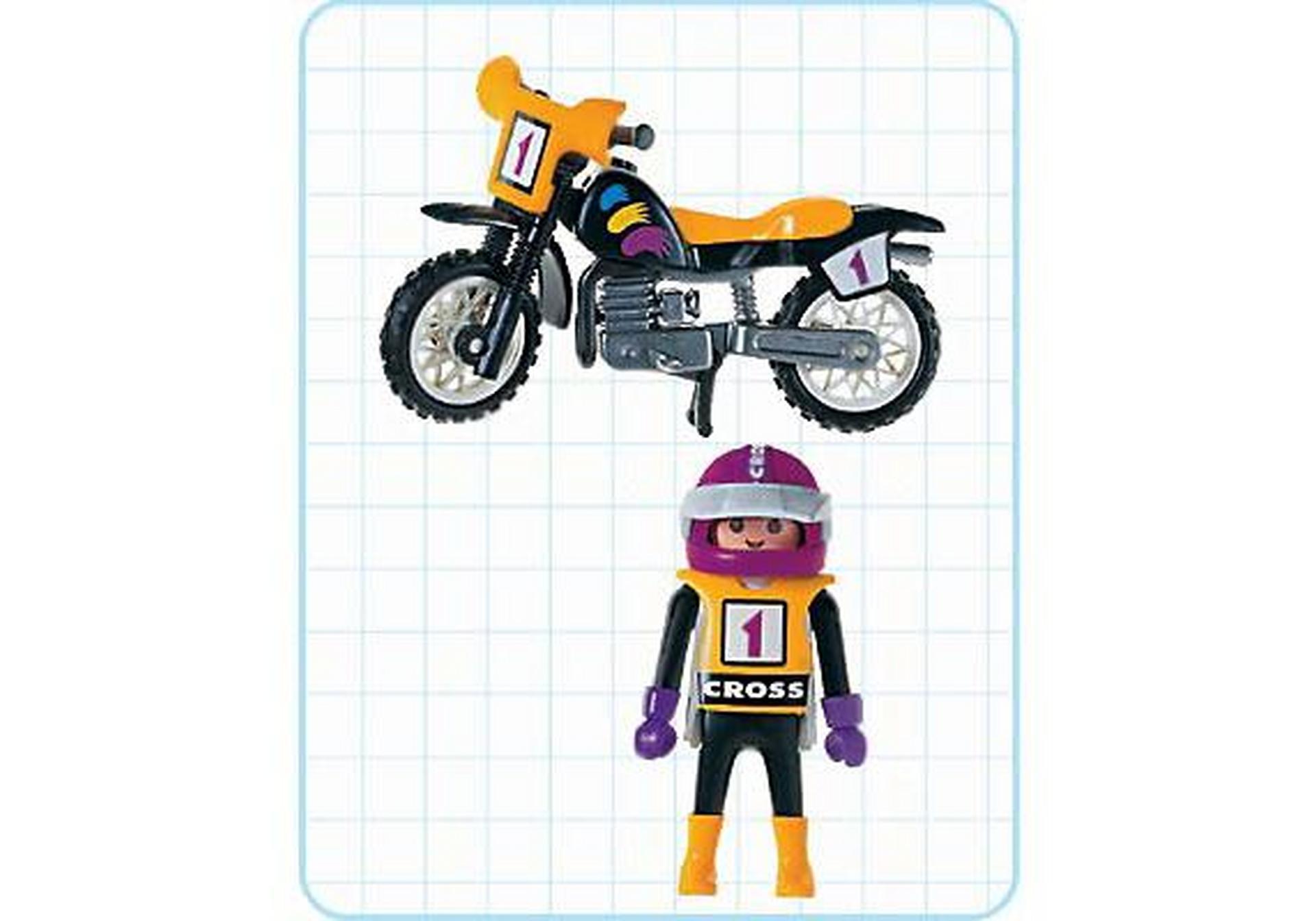 Pilote moto trial 3044 a playmobil france - Moto cross playmobil ...