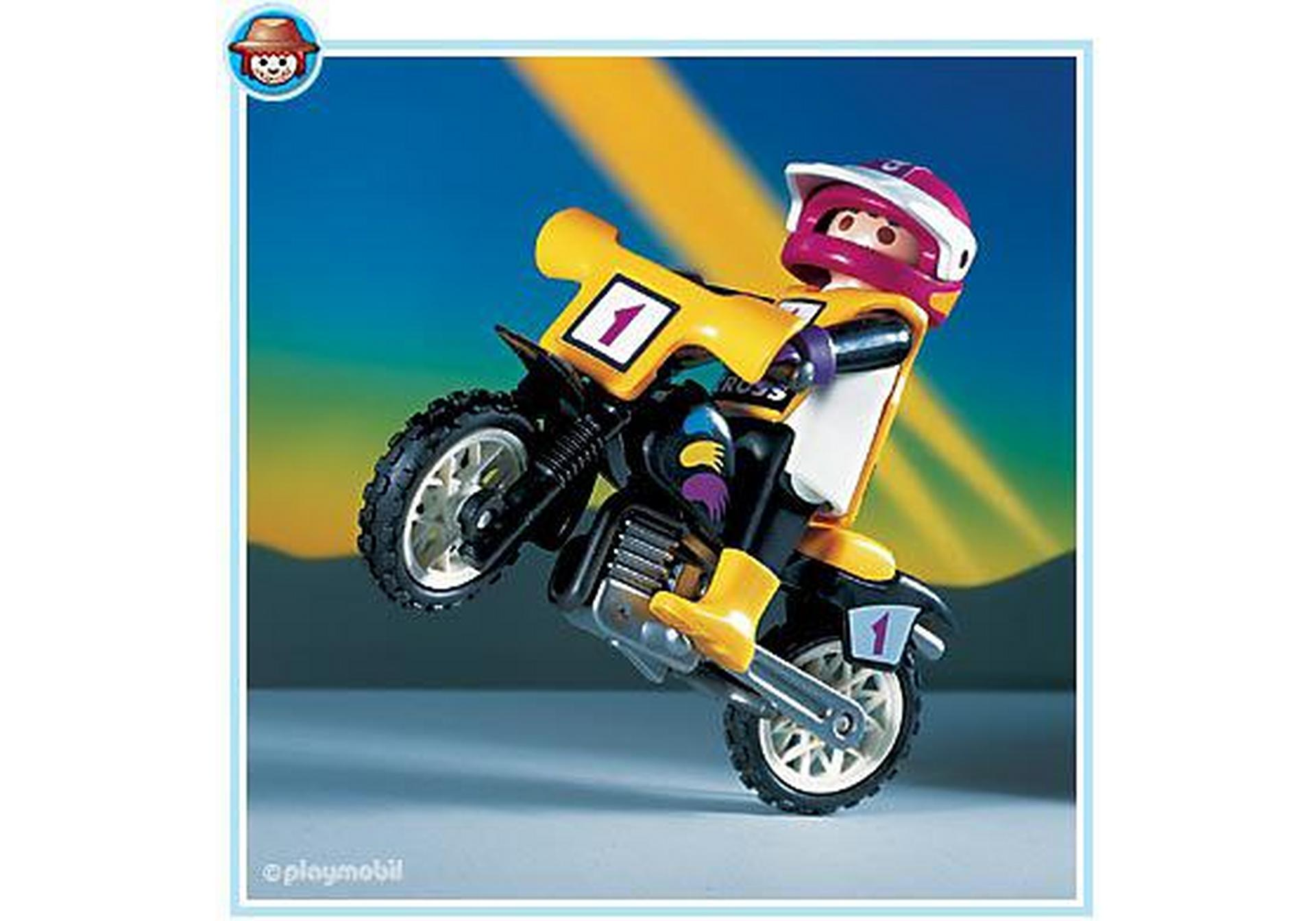 Pilote moto trial 3044 a playmobil france - Moto playmobile ...