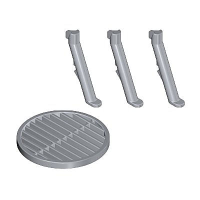 30513800_sparepart/LEGS/GRILL GRATE - SILVER