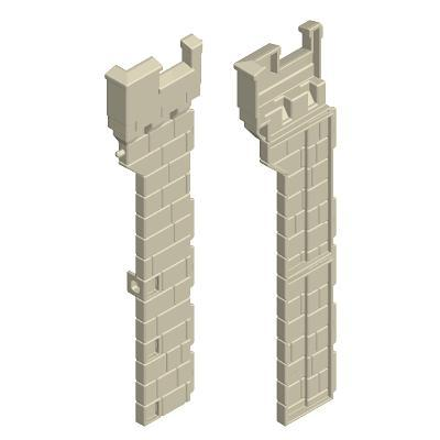 30513852_sparepart/CASTLE TOWER WALLS  LEFT AND RIGHT GREY
