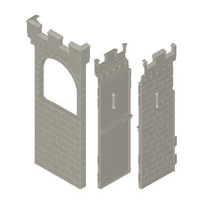 30513872_sparepart/CASTLE WALLS  HIGH  1 UPPER WINDOW  2 WI
