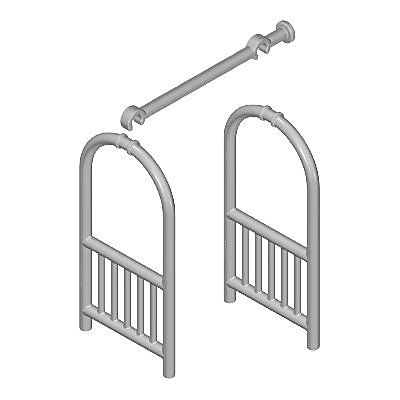 30604272_sparepart/FRAME /RACK FOR LUGGAGE SIVER/GREY