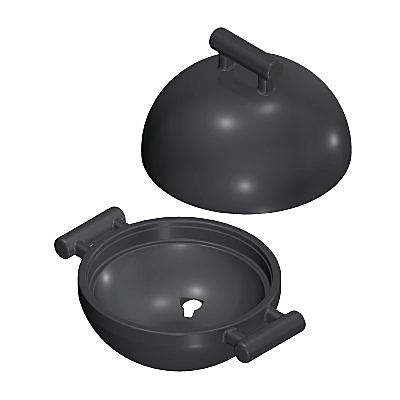 30616580_sparepart/GRILL TOP & BOTTOM BLACK