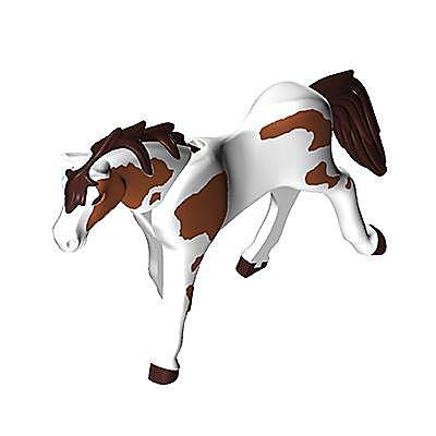30635583_sparepart/Cheval blanc et marron