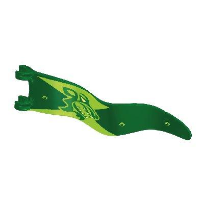 30635594_sparepart/FLAG WITH 2 CLIPS GREEN