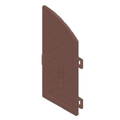 30635634_sparepart/DOOR FOR CASTLE  WOODEN  1/2 ARCH  (RIGH