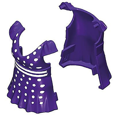 30645173_sparepart/Robe violette à pois