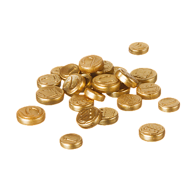 30719872_sparepart/COINS, ASSORTED SIZES GOLD
