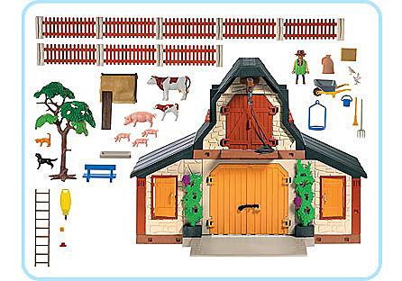 3072-A Bauernhof klein detail image 2