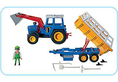 3073-A Traktor mit Erntewagen detail image 2