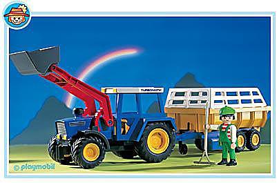 3073-A Traktor mit Erntewagen detail image 1