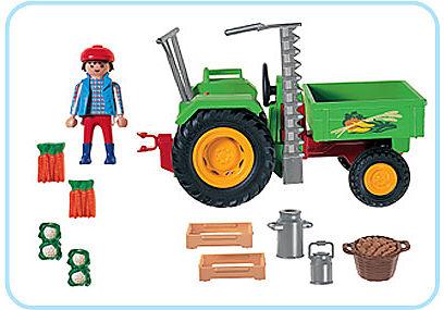 3074-A Traktor mit Ladefläche detail image 2