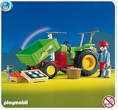 3074-A Traktor mit Ladefläche detail image 1
