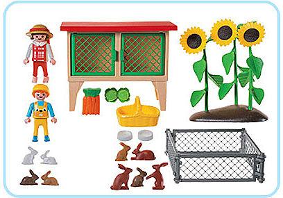3075-A Enfants/clapier basse-cour detail image 2