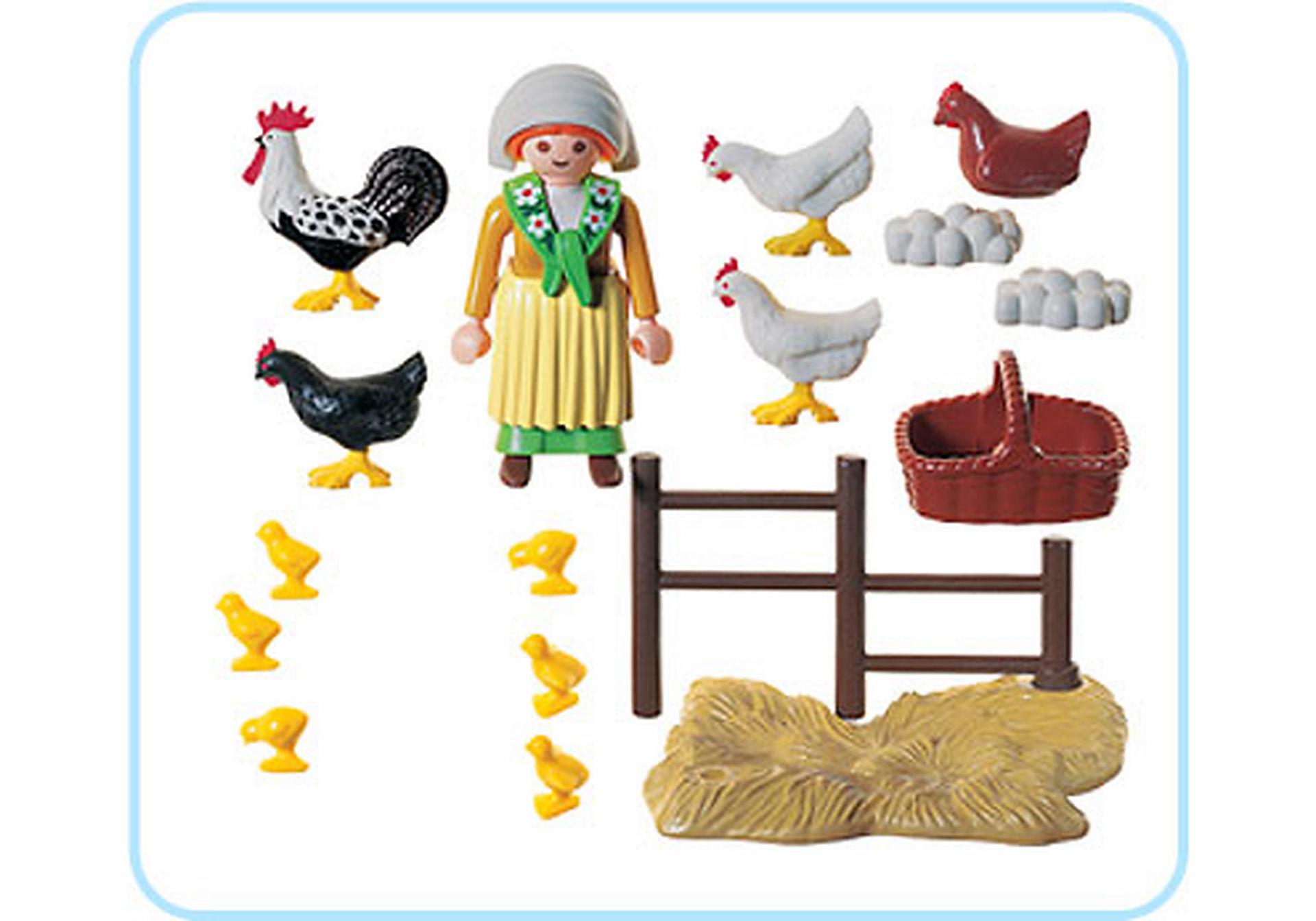 3076-A Bäuerin / Hühnerschar zoom image2