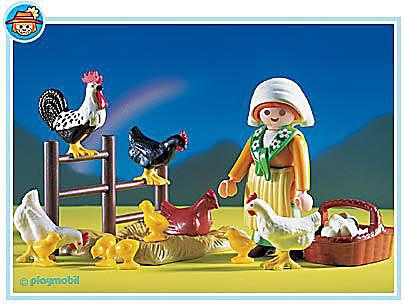 3076-A Bäuerin / Hühnerschar detail image 1