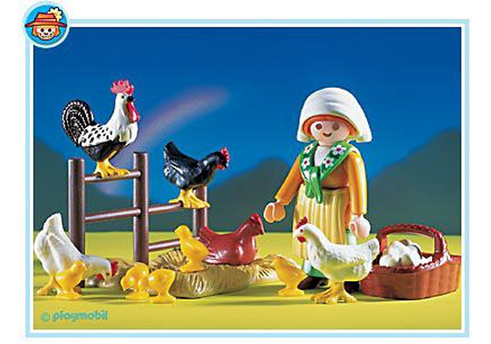 3076-A Bäuerin / Hühnerschar zoom image1