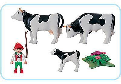 3077-A Vacher/famille de vaches detail image 2